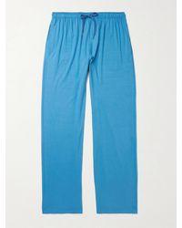 Derek Rose Stretch Micro Modal Jersey Lounge Trousers - Blue