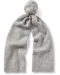COS Textured Alpaca-blend Scarf - Gray