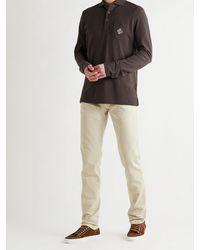 Ralph Lauren Purple Label Logo-embroidered Cotton-piqué Polo Shirt - Brown