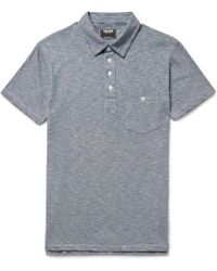 Todd Snyder - Striped Cotton-jersey Polo Shirt - Lyst