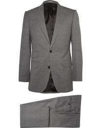 Thom Sweeney Gray Weighouse Slim-fit Wool Suit