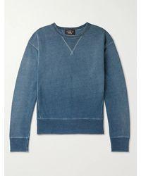 RRL Loopback Cotton-jersey Sweatshirt - Blue