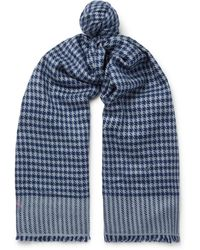 Anderson & Sheppard - Houndstooth Cashmere Scarf - Lyst
