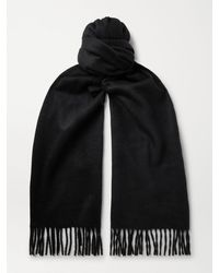 Tom Ford Fringed Double-faced Cashmere Scarf - Black