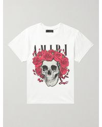 Amiri Grateful Dead Printed Cotton-jersey T-shirt - White