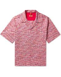 Missoni - Camp-collar Space-dyed Cotton-piqué Shirt - Lyst