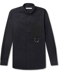 Givenchy - Cuban-fit Button-down Collar Embellished Cotton-twill Shirt - Lyst