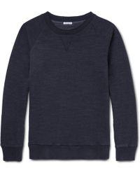 Blue Blue Japan Indigo-dyed Loopback Cotton-jersey Sweatshirt - Blue