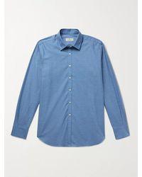 Canali Cotton-flannel Shirt - Blue