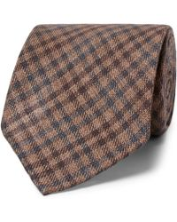 Thom Sweeney - 8cm Checked Wool And Silk-blend Tie - Lyst