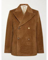 Séfr Hamra Alpaca And Wool-blend Peacoat - Brown