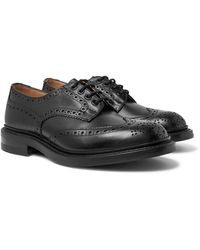 Tricker's Bourton Leather Wingtip Brogues - Black