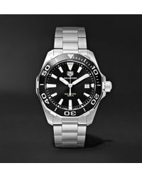 Tag Heuer - Aquaracer Quartz 41mm Steel Watch - Lyst
