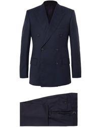 Kingsman Navy Harry Slim-fit Super 120s Wool And Cashmere-blend Suit - Blue