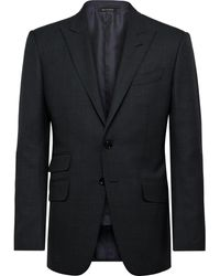 Tom Ford Navy O'connor Slim-fit Prince Of Wales Checked Wool Suit Jacket - Blue