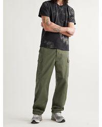 The Real McCoys Cotton-poplin Cargo Pants - Green