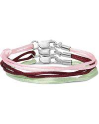 Rubinacci Set Of Three Silk Bracelets - Pink