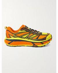 Hoka One One Mafate Speed 2 Mesh And Rubber Running Trainers - Orange