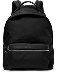 Sandro - Leather-trimmed Nylon Backpack - Lyst