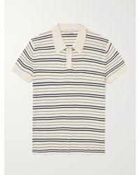Odyssee Slim-fit Striped Cotton Polo Shirt - Multicolour