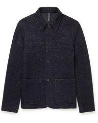Incotex Virgin Wool-blend Tweed Chore Jacket - Blue