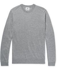 NN07 Ted Mélange Merino Wool Sweater - Gray