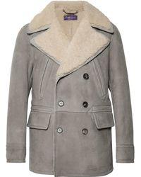 Ralph Lauren Purple Label - Longwood Double-breasted Shearling Coat - Lyst
