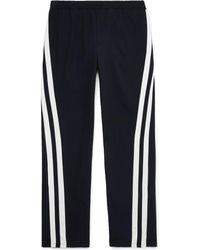 Valentino - Striped Virgin Wool Track Pants - Lyst
