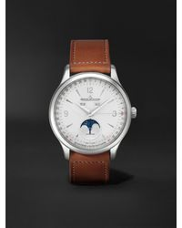 Jaeger-lecoultre Master Control Calendar Automatic 40mm Stainless Steel And Leather Watch, Ref No. 4148420 - Metallic