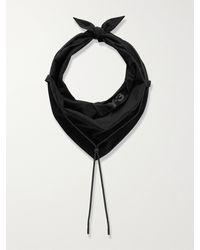 Y-3 Logo-print Cotton-blend Poplin Bandana - Black