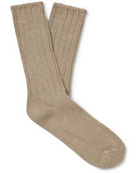 Thunders Love Ribbed Recycled Cotton-blend Socks - Multicolour