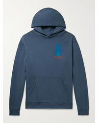 Pasadena Leisure Club Made For Leisure Printed Loopback Cotton-jersey Hoodie - Blue