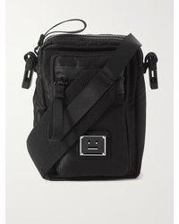 Acne Studios Logo-appliquéd Ripstop Messenger Bag - Black
