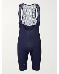 Café du Cycliste Adèle Mesh-panelled Jersey Cycling Bib Shorts - Blue