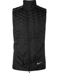 Nike Aeroloft Quilted Shell Down Gilet - Black