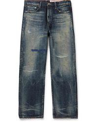 Neighborhood Block Savage Distressed Denim Jeans - Blue