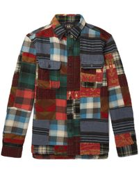 RRL - Matlock Patchwork Cotton And Wool-blend Flannel Shirt - Lyst