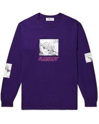 Flagstuff - Video Girl Printed Cotton-jersey T-shirt - Lyst