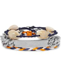 Balenciaga | Shell, Braided Cord And Silver-tone Wrap Bracelet | Lyst