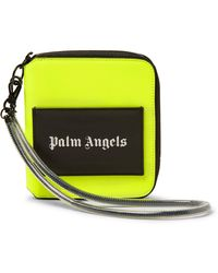 Palm Angels Logo-print Zip-around Wallet - Yellow