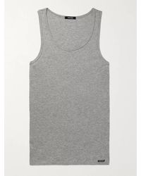 Tom Ford - Ribbed Cotton And Modal-blend Jersey Tank Top - Lyst