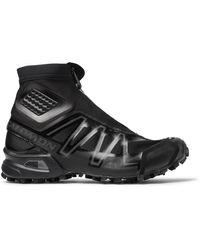 Salomon Snowcross Adv Ltd Mesh, Rubber And Neoprene Boots - Black