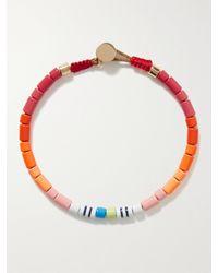 Roxanne Assoulin Colour Therapy Enamel And Gold-tone Bracelet - Orange