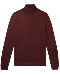 BOSS by Hugo Boss - Slim-fit Virgin Wool And Silk-blend Rollneck Sweater - Lyst