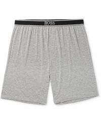 BOSS by Hugo Boss Stretch Modal-blend Pyjama Shorts - Grey