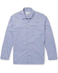 Oliver Spencer Cotton Oxford Pajama Shirt - Blue