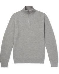 Ralph Lauren Purple Label - Merino Wool And Cashmere-blend Half-zip Sweater - Lyst