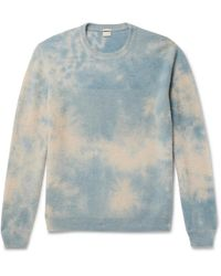 Massimo Alba Tie-dyed Cashmere Jumper - Blue
