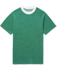 Maison Margiela - Striped Cotton-blend Terry T-shirt - Lyst