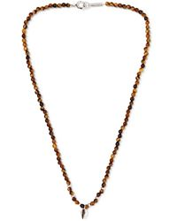 Isabel Marant Collier Silver-tone Beaded Necklace - Brown